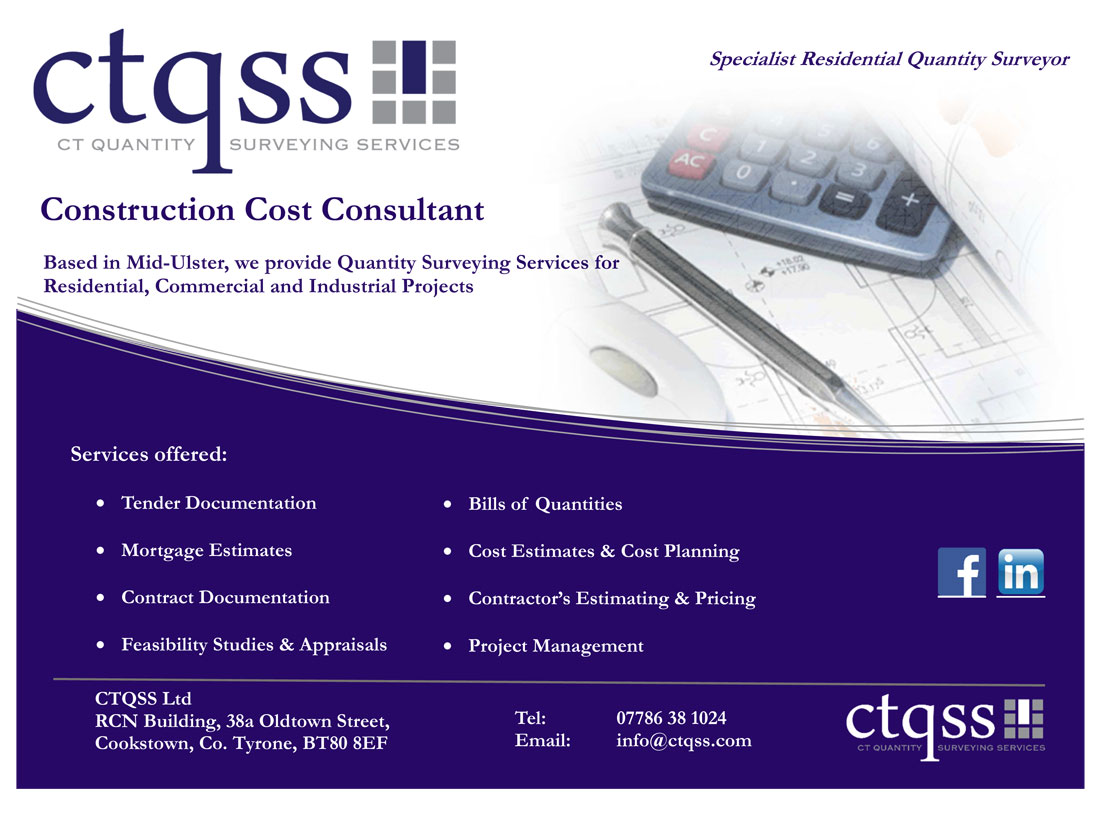 Ciarán Tally Quantity Surveying Services Cookstown Tyrone Northern Ireland